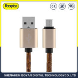 Kundenspezifischer Farben-Mikrodaten-Aufladeeinheits-Kabel USB für Handy
