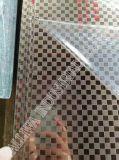 Plaque repérée d'acier inoxydable