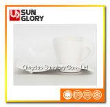 Bd006 rinforzano la tazza Fluttuare-A forma di della porcellana con il piattino