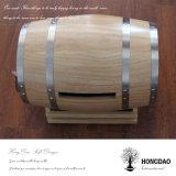 Hongdao 주문 나무로 되는 개인화된 소나무 오크 Paulownia 포도주 배럴 Mailbox_E