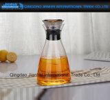新しいデザインガラスはステンレス鋼のふたが付いている茶水差しを凍らした