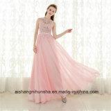 A-Line розового цвета шифона длинные элегантные сарафан платье Ппзу Openboot