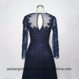 Длинний шнурок платьев вечера втулок Appliques Beaded платье выпускного вечера