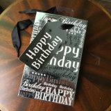 Bolso ULTRAVIOLETA del regalo del papel de feliz cumpleaños del diseño del punto