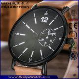 De quartzo feito sob encomenda das senhoras da cinta de couro do ODM relógio de pulso clássico (WY-P17011B)
