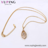 44618 Xuping New Top Quality Special 18K Gold Silk Thread Necklace Environmental Copper Imitation Jewelry