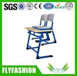 Mesa do estudante do dobro da mobília de escola e cadeira de madeira baratas (SF-45D)