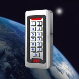 Telclado numérico independiente impermeable del control de acceso del metal con la tarjeta de la proximidad del contraluz y de la tarjeta 13.56MHz/125kHz de RFID