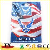 Distintivo di Pin del risvolto di promozione e della polizia del metallo con la protezione della farfalla
