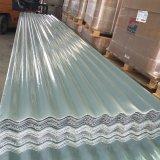 Panneau ondulé ignifuge de toiture de GRP, épaisseur de 2mm, longueur de 5.8m, largeur de 1.07m