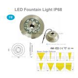 IP68 привели фонтан лампа 9 Вт
