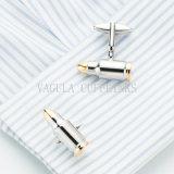 VAGULA dos de color plata y chapado en oro Bullet Cufflink 705