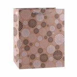 Motif de fleurs Kraft Sac en papier cadeaux Magasin de vêtements