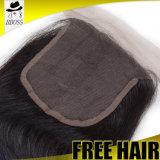 360 perruque de face de la partie 3/4 d'air de cheveu de Vierge de fermeture de lacet