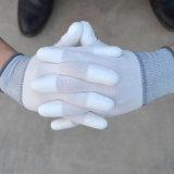 Guanti di nylon lavorati a maglia senza giunte bianchi dell'unità di elaborazione dei guanti rivestiti adatti dell'unità di elaborazione della palma del calibro di prezzi di fabbrica 13