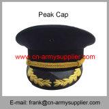 卸し売り安い中国の軍の金金属のバッジの警察の軍隊の帽子