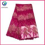 Tessuti del merletto di Tulle del ricamo di alta qualità per il vestito