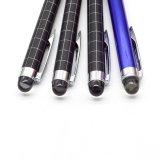 Grille noire bleu stylo à bille de métal avec Crystal Bienvenue logo personnalisé.