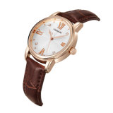 Nueva señora Quality Quartz Watch de la aleación de la manera con la correa de cuero genuina
