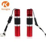 Bateria de lanterna de AAA de liga de alumínio com luz vermelha de chaves lanterna