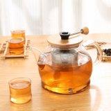 Чайник термостойкого стекла с фильтром Infuser чая