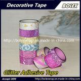 Multifunción DIY Glitter Glitter cinta cinta adhesiva utilizada para el embalaje, la escuela, oficina, la decoración