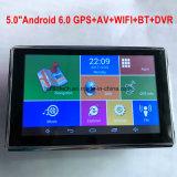"""Banheira de 5.0"""" Carro Tablet PC com navegação GPS veicular, Android Market 6.0, Full HD1080p carro DVR, AV-na câmara de Estacionamento, aluguer de núcleo quádruplo;Caixa Preta,Goole GPS Navigator,Browser"""