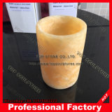 Contenedor de pluma de mármol amarillo Penholder