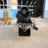 La minería de oro a pequeña escala Trommel portátil