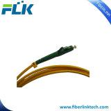Cable óptico de la cuerda de corrección de la fibra a una cara del puente del LC APC SM