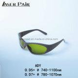 laser do Alexandrite 755nm com os diodos 808&980nm com ND 1064nm: Óculos de proteção de segurança do laser de YAG com estilo do esporte