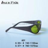 Laser des Alexandrite-755nm mit den Dioden 808&980nm mit Nd 1064nm: YAG Lasersicherheits-Schutzbrillen mit Sport-Art