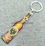De volledige Kleur Afgedrukte Bier Gevormde Sleutelring van het Metaal