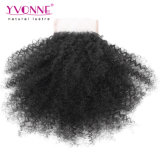 Yvonne cheveux afro Kinky Curly Virgin brésilien de la fermeture de la Dentelle