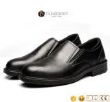 Enxerto preto nas sapatas de segurança de aço do dedo do pé para homens