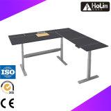 Mesa de mesa em forma de noz ajustável em altura elétrica