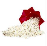 Compartimiento de encargo de Popper de las palomitas de microonda del silicón del FDA con la tapa, rojo plegable del tazón de fuente del fabricante de las palomitas para el partido casero (XY-PB-01)