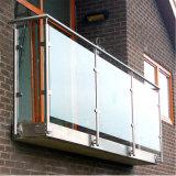 Diseño modificado para requisitos particulares del precio de fábrica para el pasamano de interior del balcón del vidrio Tempered