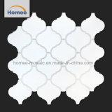 Mattonelle di mosaico di ceramica bianche pure opache di figura della lanterna di alta qualità 5mm