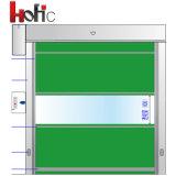 Porte à grande vitesse industrielle automatique de roulement de PVC