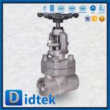 API Didtek598 Válvula de globo de acero inoxidable el perno capot