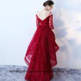 Il merletto abbiglia il vestito da partito massimo minimo asimmetrico dell'abito convenzionale dell'abito di sera