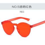 Óculos de sol plásticos do vintage dos vidros de Sun da cor por atacado da geléia para mulheres