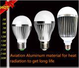 Bulbo de la bola LED de la durabilidad E27/E14 3With5With7With9With12With15With18With24With30W de la alta calidad con la radiación térmica de aluminio del torno de la aviación y el IC de conducción Constante-Actual
