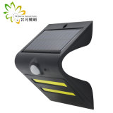 Détecteur de mouvement léger solaire + lumière obscure + contrôle léger pour le jardin/mur/cour/rue/lampe d'endroit