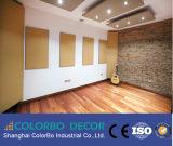 Scheda acustica del tessuto del rivestimento murale della vetroresina acustica dei comitati