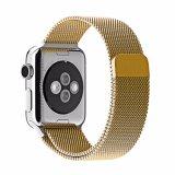 Stainlese Correa de reloj de acero de la manzana de la banda magnética de bucle Milanese