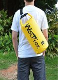 20L/10L sac sec - sac sec de flottement imperméable à l'eau de vitesse de Duffle de roulis de Wolfyok premier avec les courroies d'épaule réglables pour le canotage/Kayaking/pêche/transporter/Campin