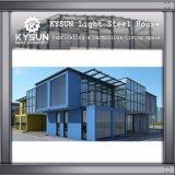 임시 사무실을%s 주문을 받아서 만들어진 강철 구조물 빛 강철 2 지면 콘테이너 집