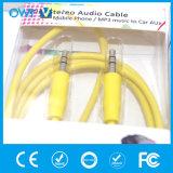 Тонкий способ кабель от 3.5mm до 3.5mm стерео эластичный вспомогательный